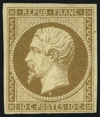 France Napoleon III 10 centimes, 1852 stamp