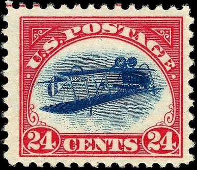 Inverted Jenny, 1918 rare stamp