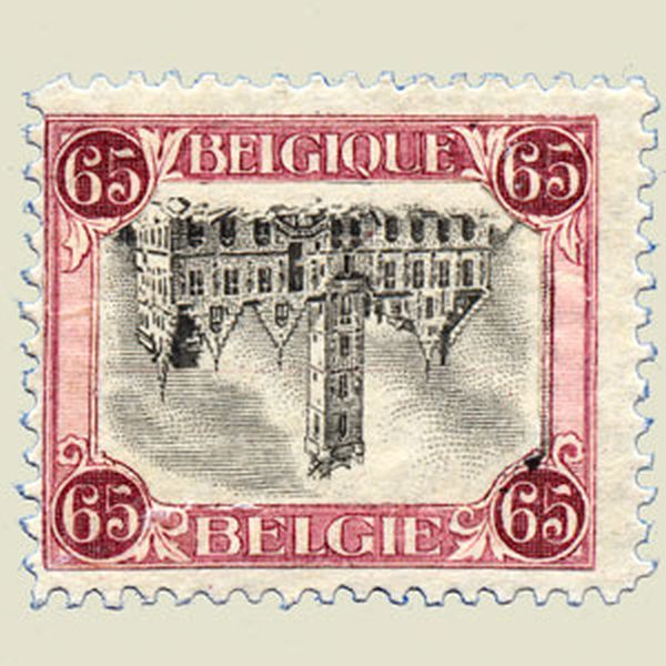 Inverted Dendermonde stamp, 1920