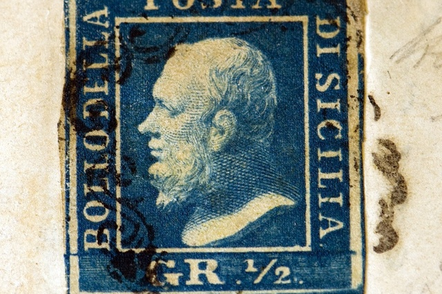 The Sicilian Error of Colour, 1859 stamp