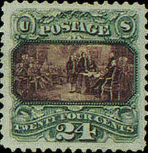 THE DECLARATION OF INDEPENDENCE, 1869 rare stamp