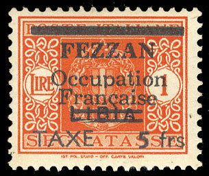 Fezzan 1943 Postage Dues stamp