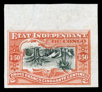 Red and Black Center Inverted stamp, 1898