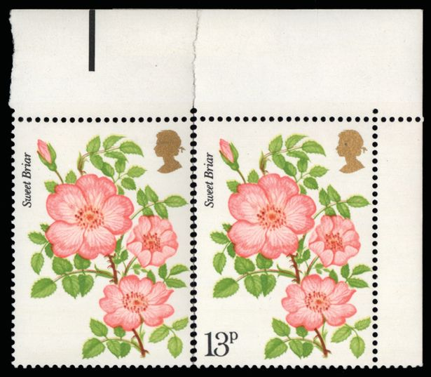 The Roses error stamp, 1978