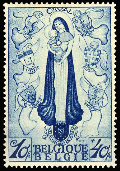 Orval Abbey semi-postal stamp, 1933