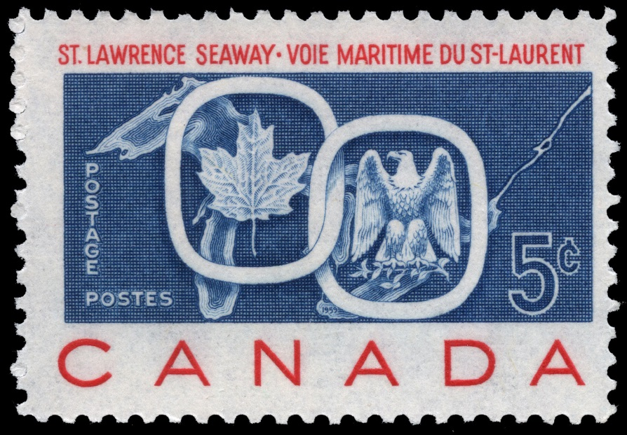 St Lawrence Seaway Invert Stamp 1959