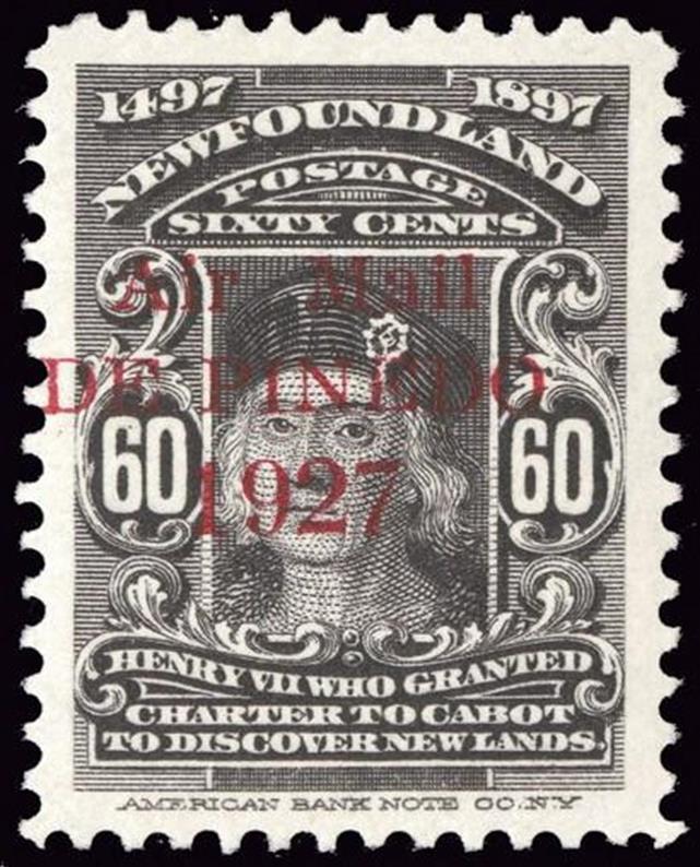 60 Air Mail Overprint 1927 Stamp