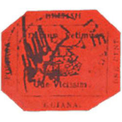 British Guiana 1-Cent Magenta, 1856 rare stamp