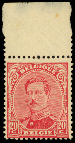King Albert I error of color stamp, 1922