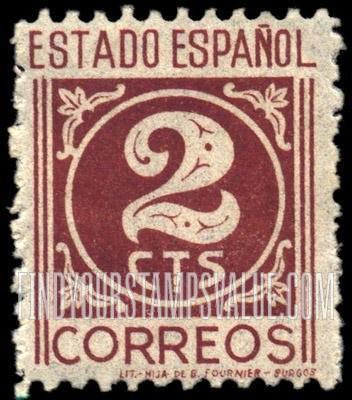 "Estado Espanol"" 2c Green stamp price, value"