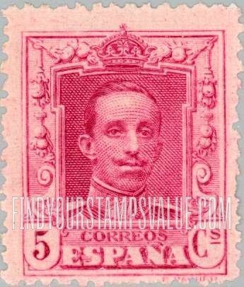 Value Of Espana 5 Cents Stamps