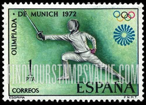 Value Of Munich Olympic Games 1972 Stamps