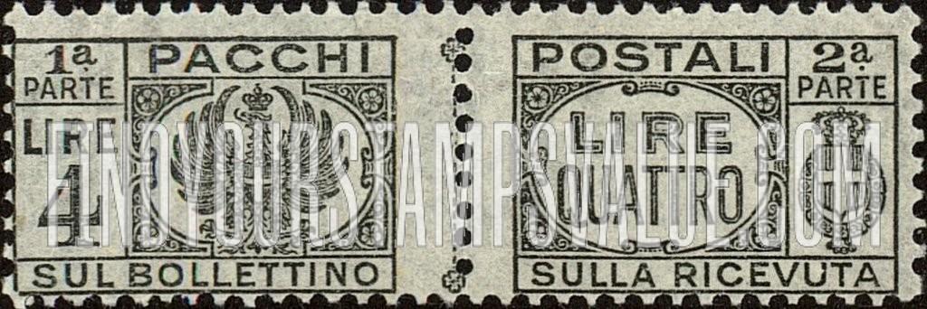 Value Of Pacchi Sul Bollettino Stamps