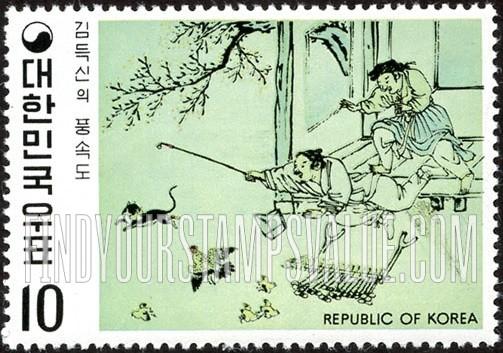 Value Of Korea Cat 30 Stamps