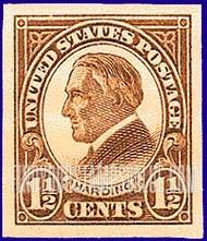 HARDING 1 2 CENTS Stamp Value