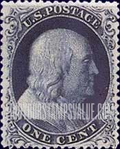 Value Of Ben Franklin 1 One Cent 1706 1790 Stamps