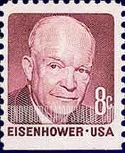 8 Cent Eisenhower Stamp Value