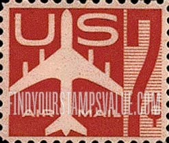 Us Airmail 7 Cent Stamp Stamp Value