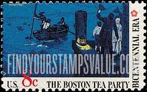 Boston Tea Party Stamp Value