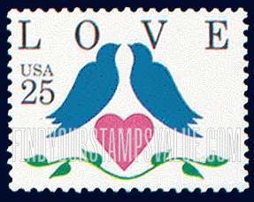 love 25 cent stamp value