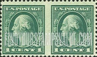 George Washington 1cent Green Facing Left Stamp Value